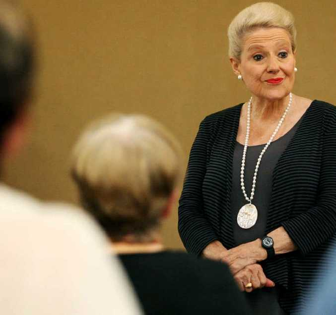 Shadow Minister for Seniors Bronwyn Bishop listens to concerns at a forum in Gracemere.