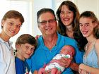 Alain and Ann-Maree Pitot with six-day-old Christian and their other children, Gerard, 11, Mikael, 9, and Charlotte, 14, who were all born at the Nambour Selangor Private Hospital.