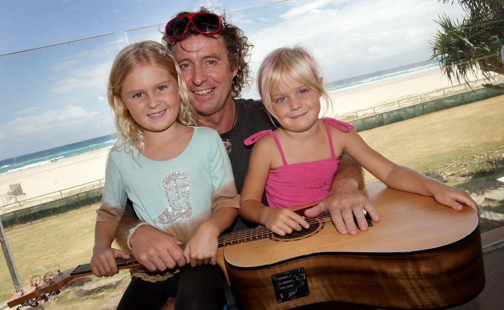 Brian Burdett and his daughters.