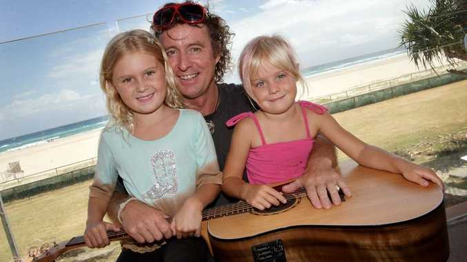 Brian Burdett and his daughters.