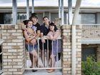 Enjoying life in UniRez student accommodation are (from left) Allyssa Male, Lane Dudman, Ashleigh Wilson and Aleshia Kitchener.