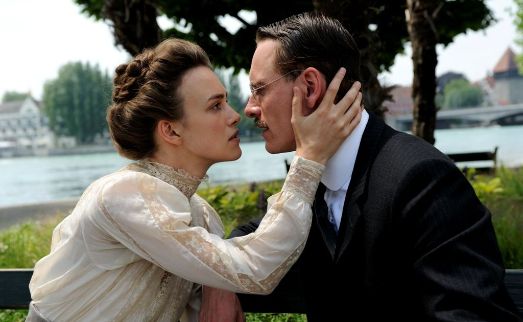 Keira Knightley and Michael Fassbender in a scene from the movie A Dangerous Method.