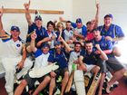 Sawtell players are all smiles after claiming the 2011-12 CHDCA title in a thrilling grand final against Diggers Ex-Services.