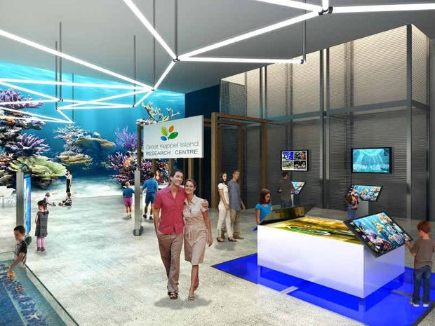 An artist's impression of a research centre planned for Great Keppel Island.