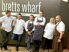 At the Plates for Mates benefit for Matt Golinski in Brisbane yesterday were chefs Manu Feildel, Gary Mehigan, Alastair McLeod, Damian Heads, Janelle Bloom and George Calombaris.