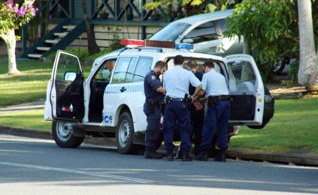 An arrest is made at Taloumbi Cl, Coffs Harbour this morning as part of a synchronised drug bust.