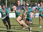 Damien Irvine crunches through for Sawtell as the Panthers charge to a comprehensive 60-6 win against Macksville.