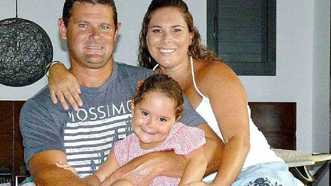 Danielle Doney Bryce, Luke Bryce and four-year-old Chelsea have been stranded at their home in Fiji for the past five days.