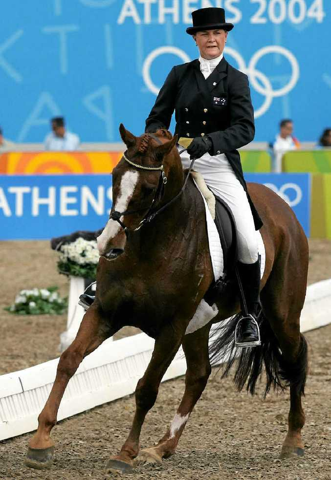Australia's Rebel Morrow rides Oaklea Grover during the 2004 Olympics and will ride her half-sister in Warwick this weekend.