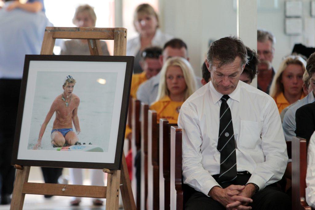 Matthew Barclay's funeral in 2012.