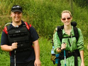 Duo hits the trail for autism