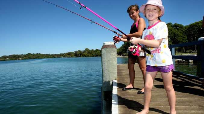 Jorjah and Sarah Robinson hope to hook a big one.
