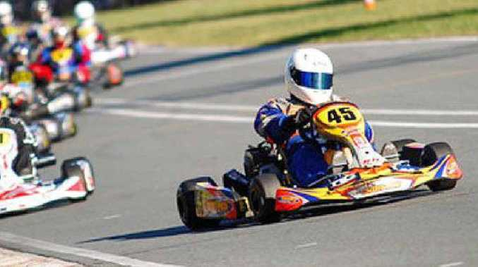 Gary Scott leads the clubman heavy race during round three of the recent Ipswich club championships.