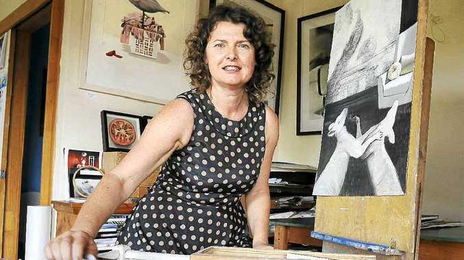 Clunes artist Katka Adams has donated a $1500 people's choice award.