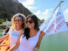 Ginny Gerlach and Laureth Craig, pictured on a Keppel and Fitzroy Delta Alliance cruise last month, are concerned about impacts of proposed coal port projects in Keppel Bay.
