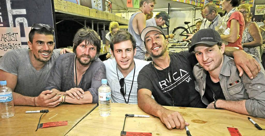 Tijuana Cartel band members Daniel Gonzales, Paul George, Joshua Sinclair, Regan Hoskins and Carey O'Sullivan.