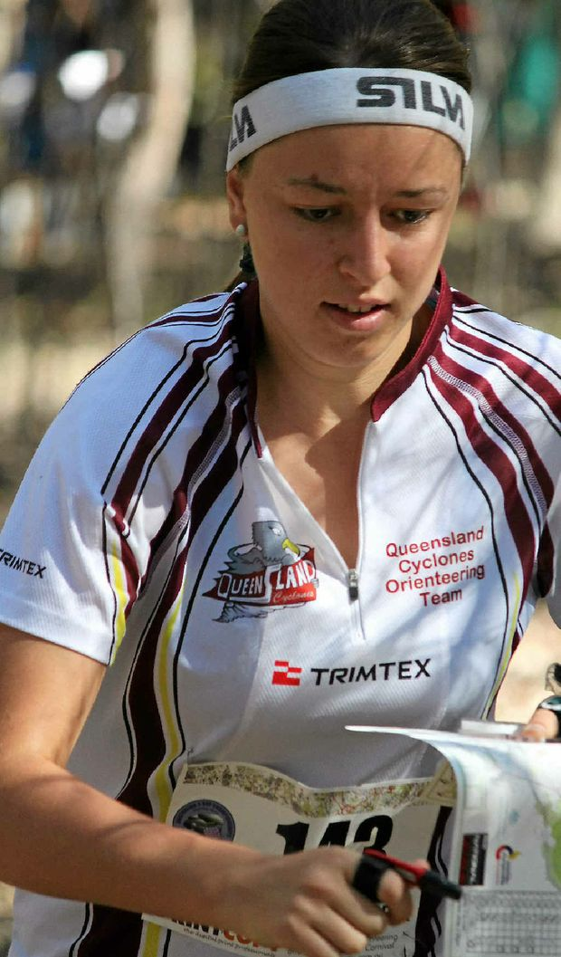 Warwick orienteer Lilian Burrill shows her style at Pratten in the Easter three-day carnival and is odds on to again make the Australian junior team.