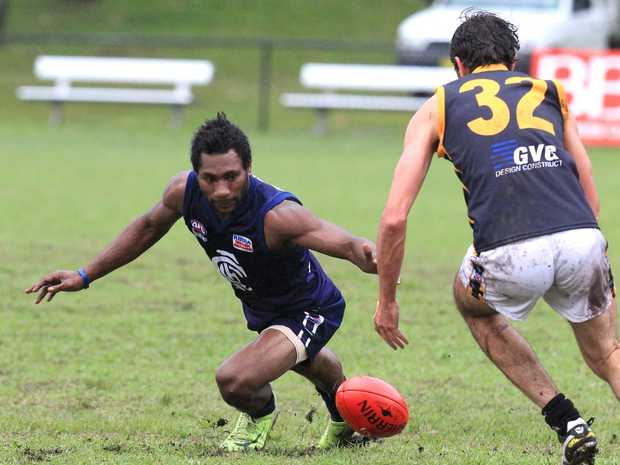 Hard-working Paul Phillip is one of a handful of classy PNG players lining up for the Blues this season.