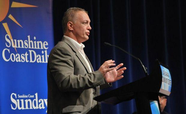 Brett Winkler emerged in the top four of last night's mayoral debate at the Lake Kawana Community Centre.