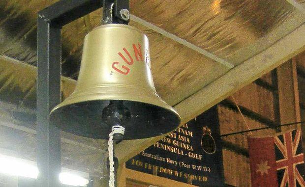 HISTORIC BELL: The bell from the Gunbar.
