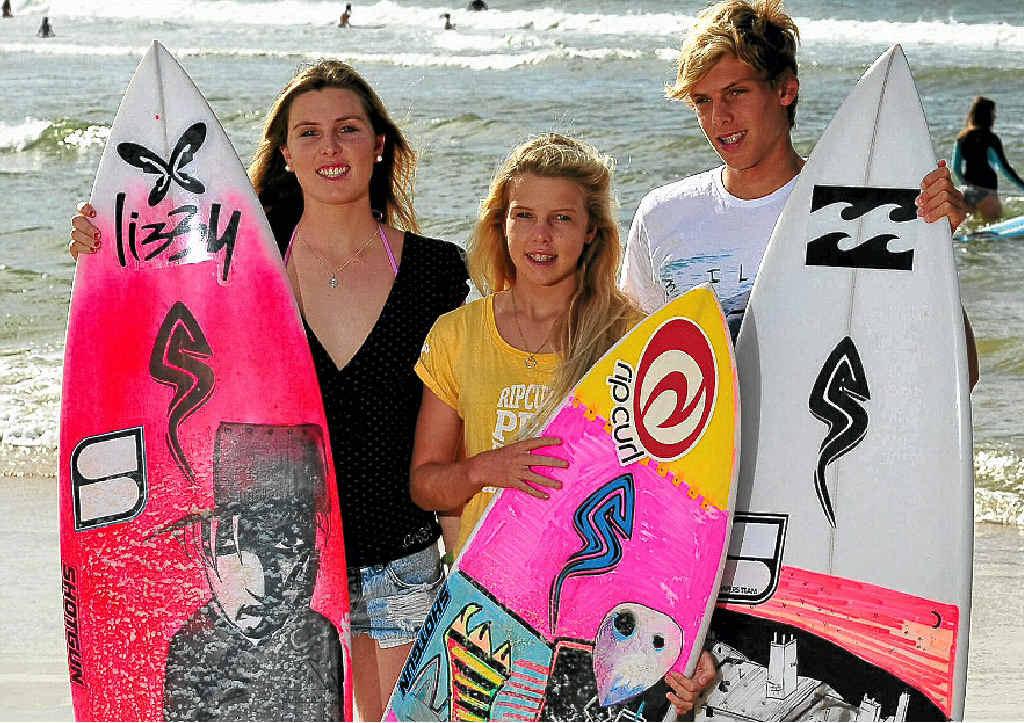 Sophie, Lucy and Nick Callister share a love of the waves and a desire to make it in the professional surfing ranks.