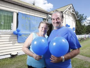 Turning 'blue' for a cause