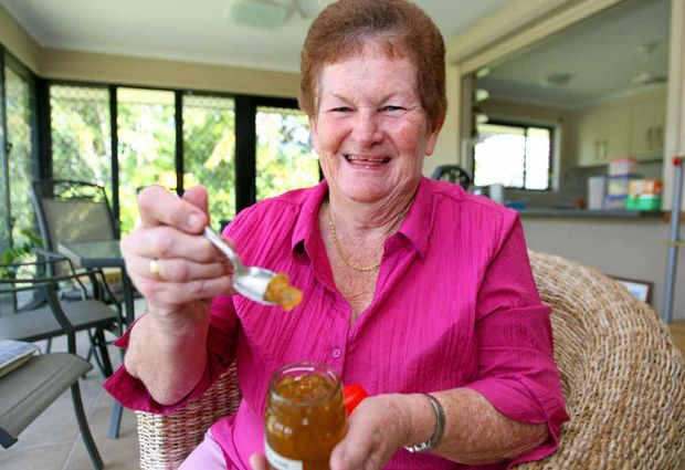 Bouldercombe's Ailsa Rowley with her cumquat marmalade that won first prize in Australia and second in England.