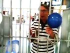 Lismore mayor Jenny Dowell behind bars.