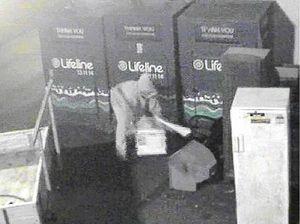 Thieves' brazen bin raid