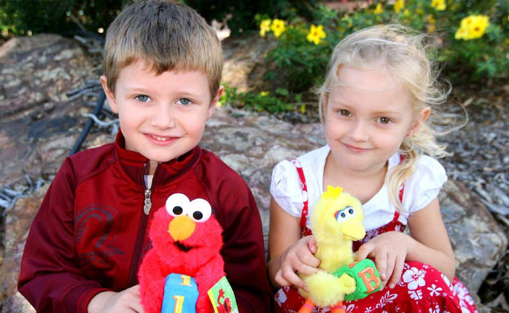 William Allen (5) and Skye Taylor (4) were excited about going to the 'Sesame Street Presents Elmo's World Tour' at the Pilbeam Theatre.