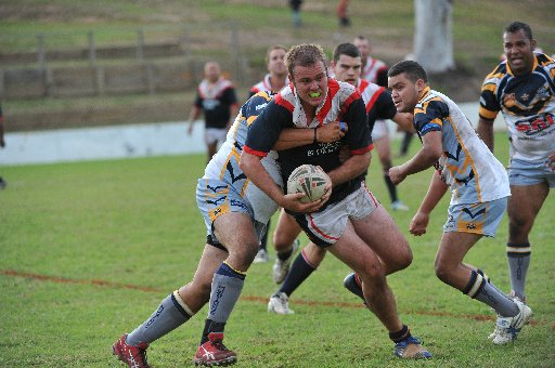Athletic Nambucca  front-rower Aaron Clarke cause nightmares for the Port  Macquarie Sharks in the side's round three Group 2 clash.
