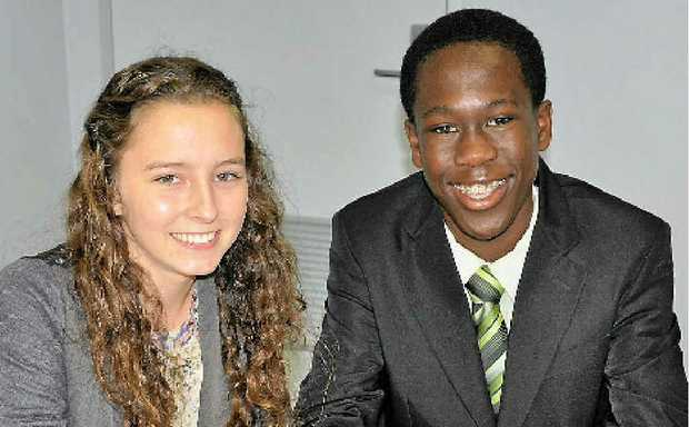 Toowoomba's representatives in the Queensland Youth Parliament are Elke Goddard and Yaw Kyei.