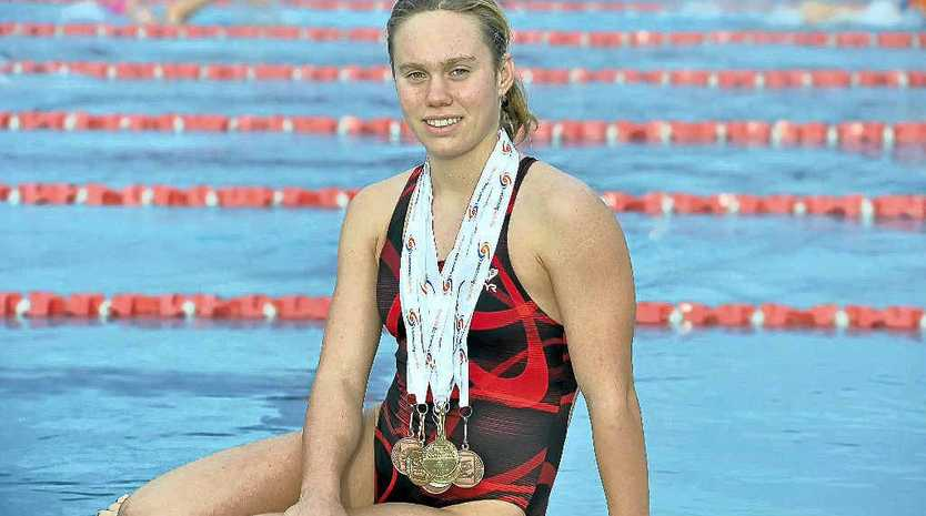 Chelsea Gubecka has just returned from the National Age Championships with a swag of medals including three gold.