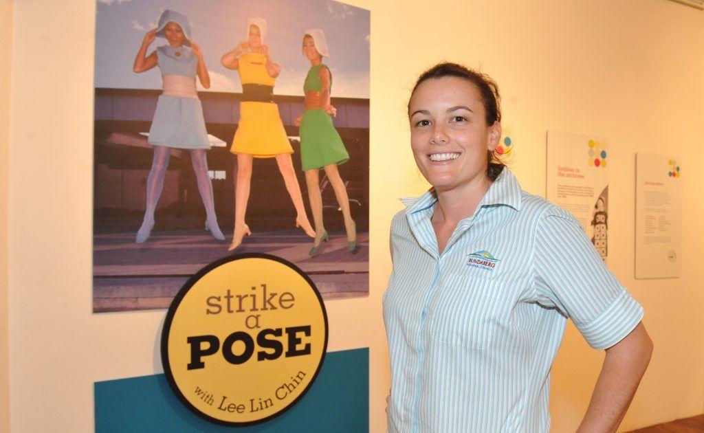 Bundaberg Regional Art Gallery marketing officer Chloe Camilleri, BRAG have a new exhibition Strike a Pose that celebrates Australian fashion photography.