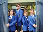 Hervey Bay High School captains Marissa Hilliar, Callum Sullivan, Jake de Brenni and Stephanie Stone are hoping the new fence will safeguard their school against crime.