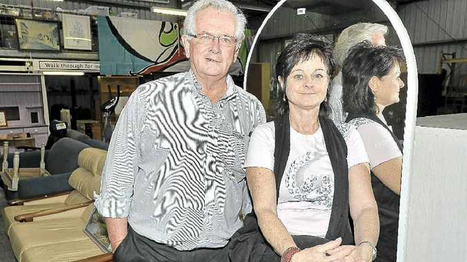 EXPERIENCED: At Lismore Lifeline, manager Peter Higgins (left) and Kate Kelly. Mireille Merlet-Shaw