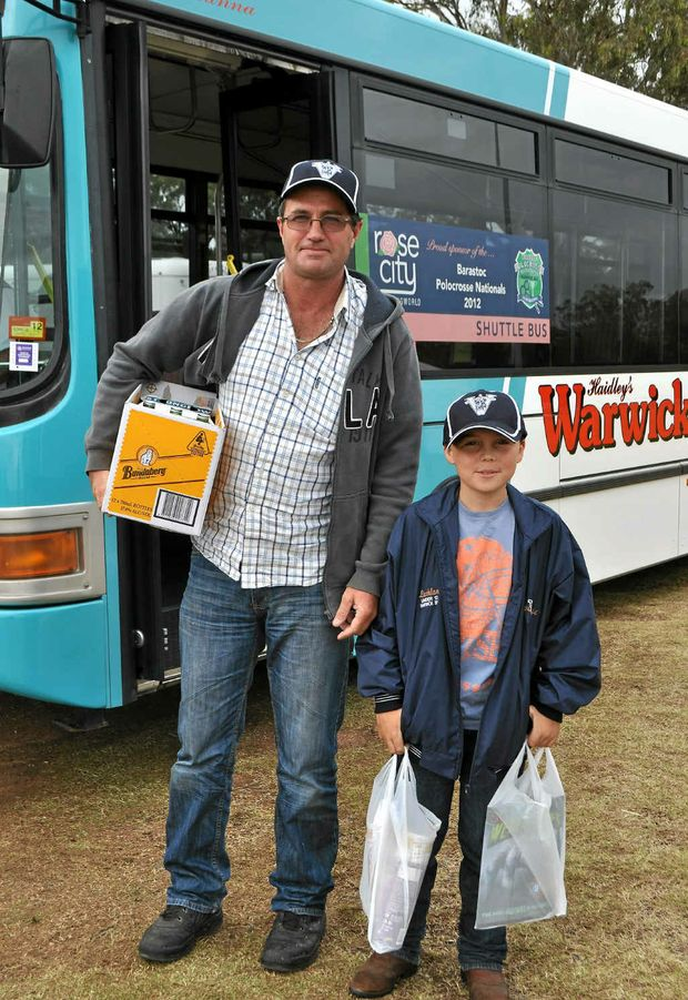 Michael Galvin and Lachie Marriott used the shuttle bus to get to town.