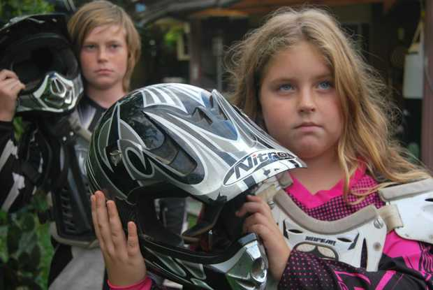 Lucia Nykvist and Slade Vidgen are devastated over the theft of their trail bikes.