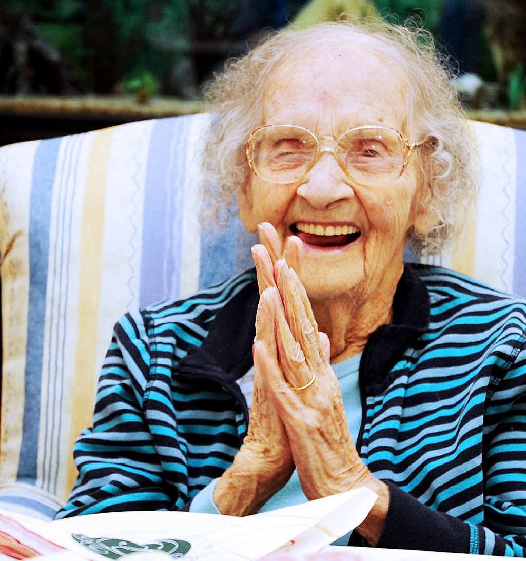 Kathleen Bowrey enjoyed celebrating her 100th birthday at Yaralla Place Aged Care Facility yesterday.