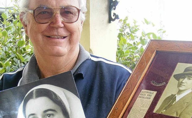 TRIBUTE: Alstonville Plateau Historical Society's Ian Kirkland with his book on local woman Jessie Blanch, who was a World War II Prisoner of War.
