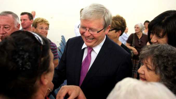 Kevin Rudd has brought bacl Labor back to an even chance.