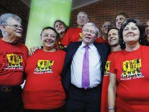 Kevin Rudd visits Lismore