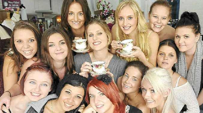 Pageant entrants (from left) Lailani McGurgan, 20, Laura Huntsman, Ebony Brewer, 21, Rachel Goodman, 22, Janaya Everingham, 16, Lucinda Walby,19, Erica Vanclay,19, Kristy Foster,18, and (front from left) Tilly Pleace, 17, Tyeisha Roberts, 16, Kate Jaeger, 17, Rebecca McGavin and Melissa German, 21.