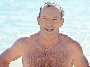 Tony dons those budgie smugglers