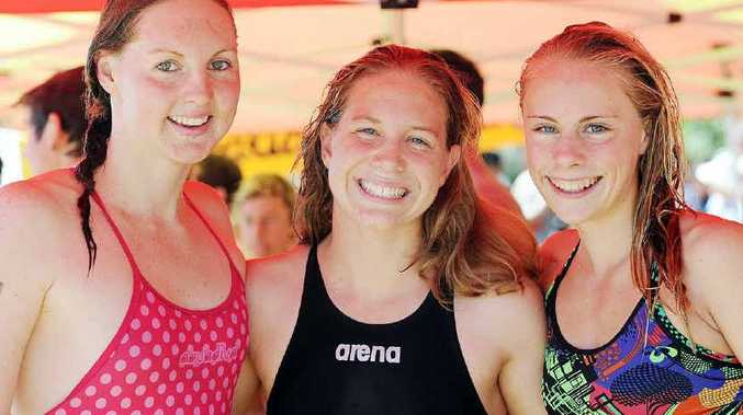 Melissa Gorman from Brisbane, and Hervey Bay's Ella Kleinschmidt and Ruby Elder came first, second and third respectively in the Open women's section of the Pier to Pub.