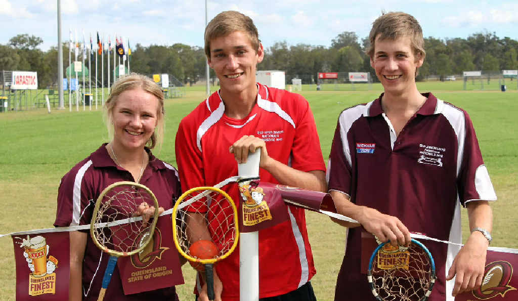 Carly Cooper, Jacob Lawrence and Bryce Lamb are ready to play juniors for Queensland this week at Morgan Park.