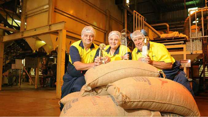 Nestle line manager Nigel Dunchue, team leader Helen Cassidy and operator Terry Brand.