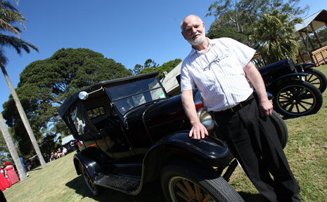 Model and Owners Queensland member Dick Pakemen with his 1926 Model T Ford at last year''s Heritage Festival at Wolston House, Wacol.
