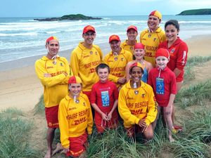 Backpackers saved from heavy surf