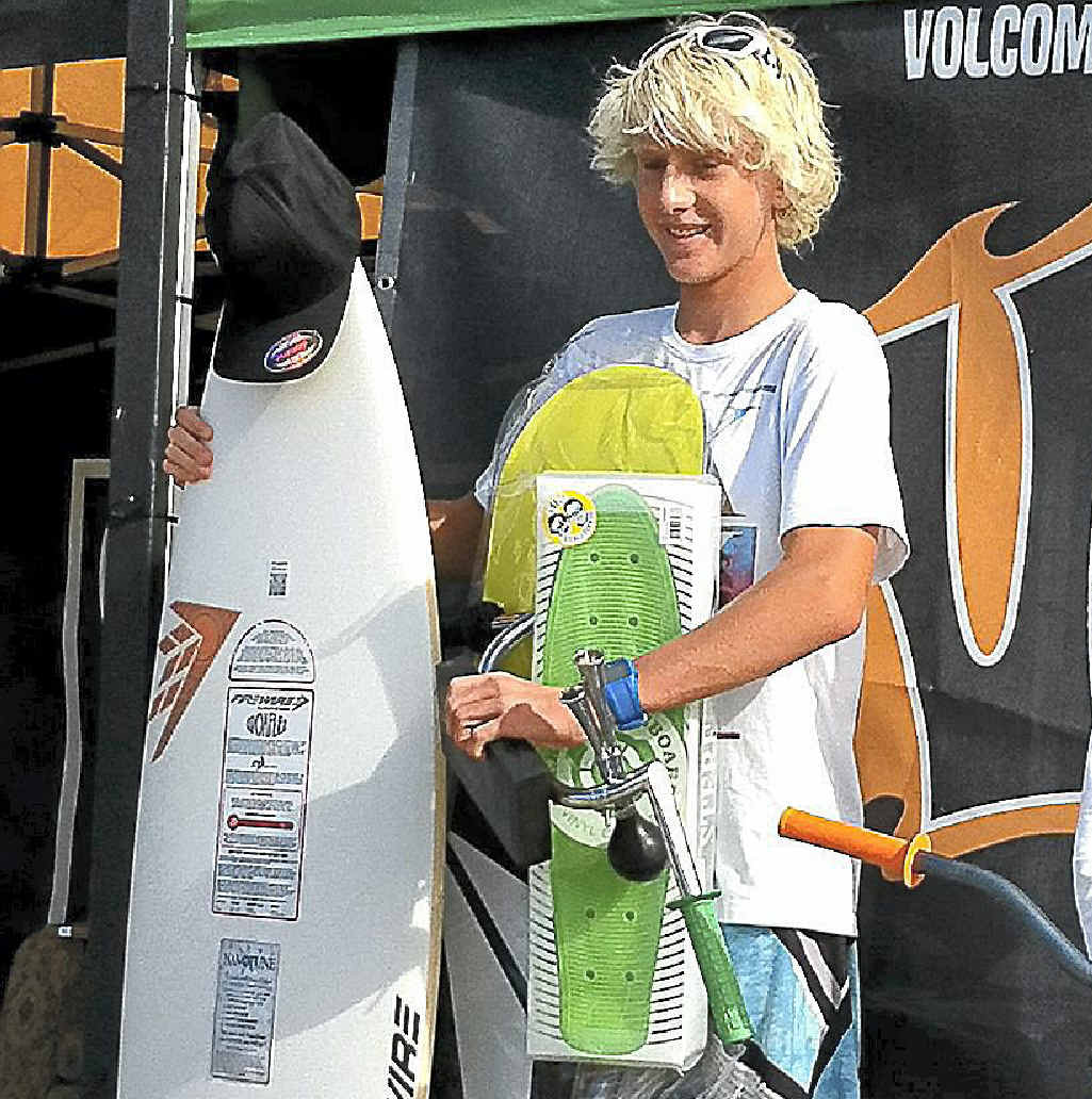Chris Zaffis, 14, is on a week-long road trip with seven other surfing prodigies.